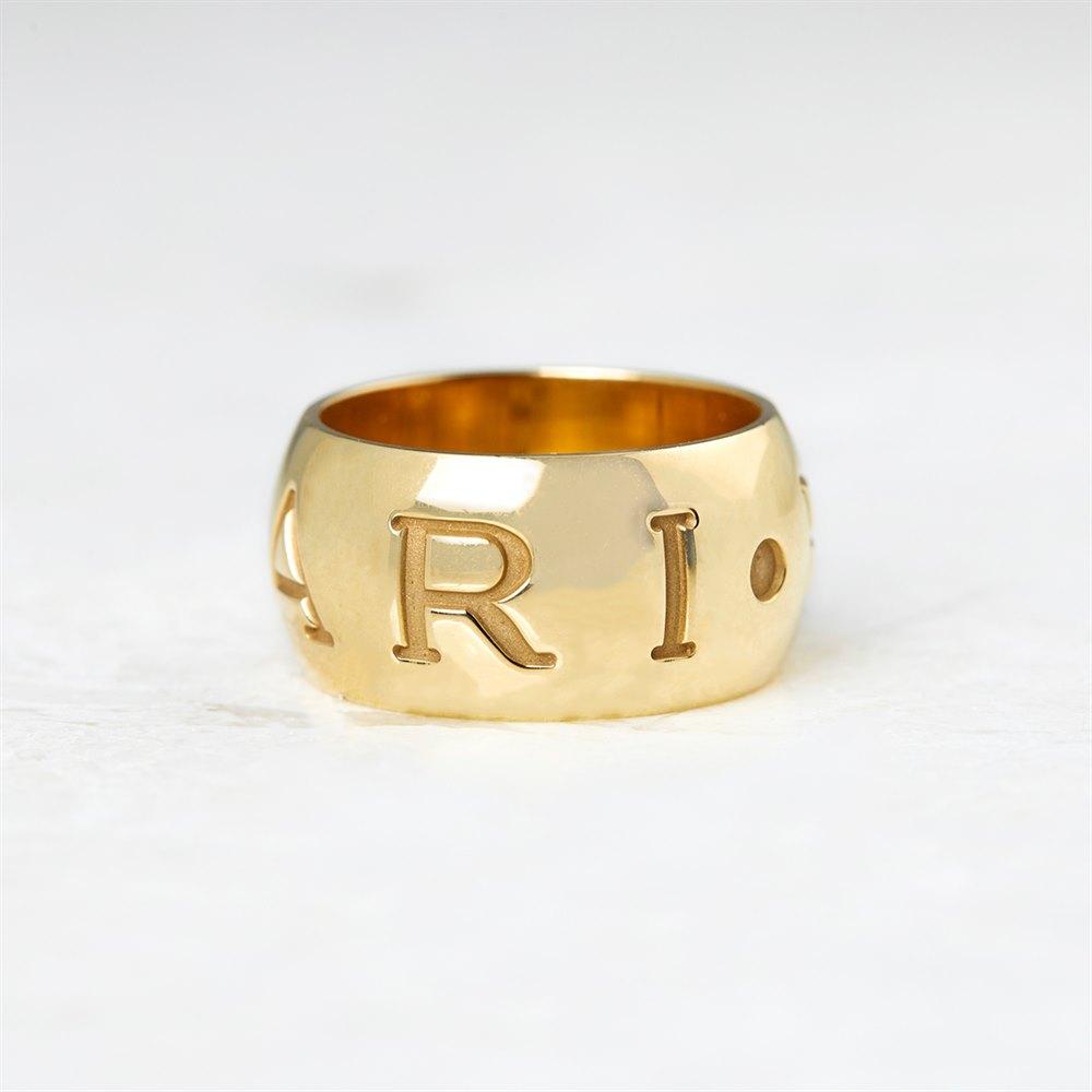 Bulgari 18k Yellow Gold Monologo Ring
