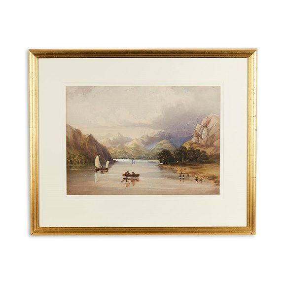 Original Watercolour Lakeland View By Emily Nicholson Signed 'e.N' 1845