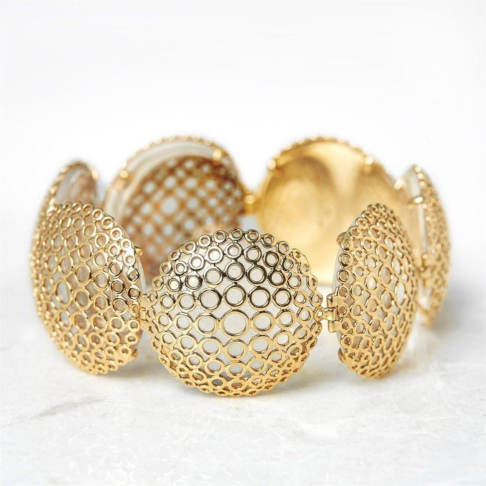 Carla Amorim 18k Yellow Gold Cabochon Clear Crystal Quartz Bracelet