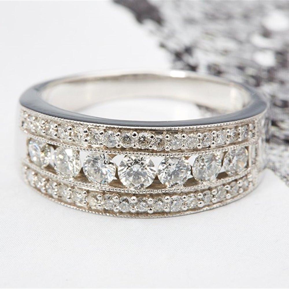 14k White Gold 1.65cts Channel set Diamond Band