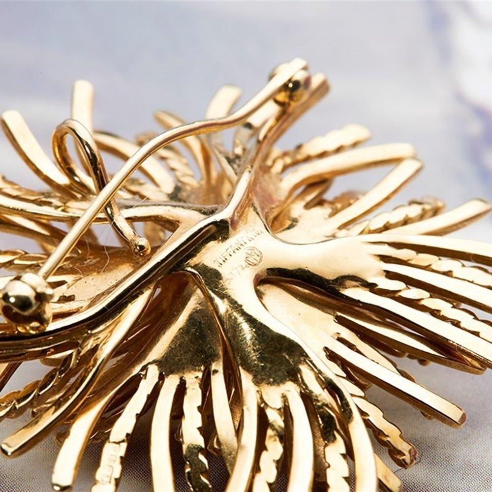 Tiffany & Co. 18k Yellow Gold Sea Urchin Brooch or Pendant