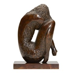 CROUCHING GIRL LTD EDN BRONZE SCULPTURE BY JOHN FARNHAM