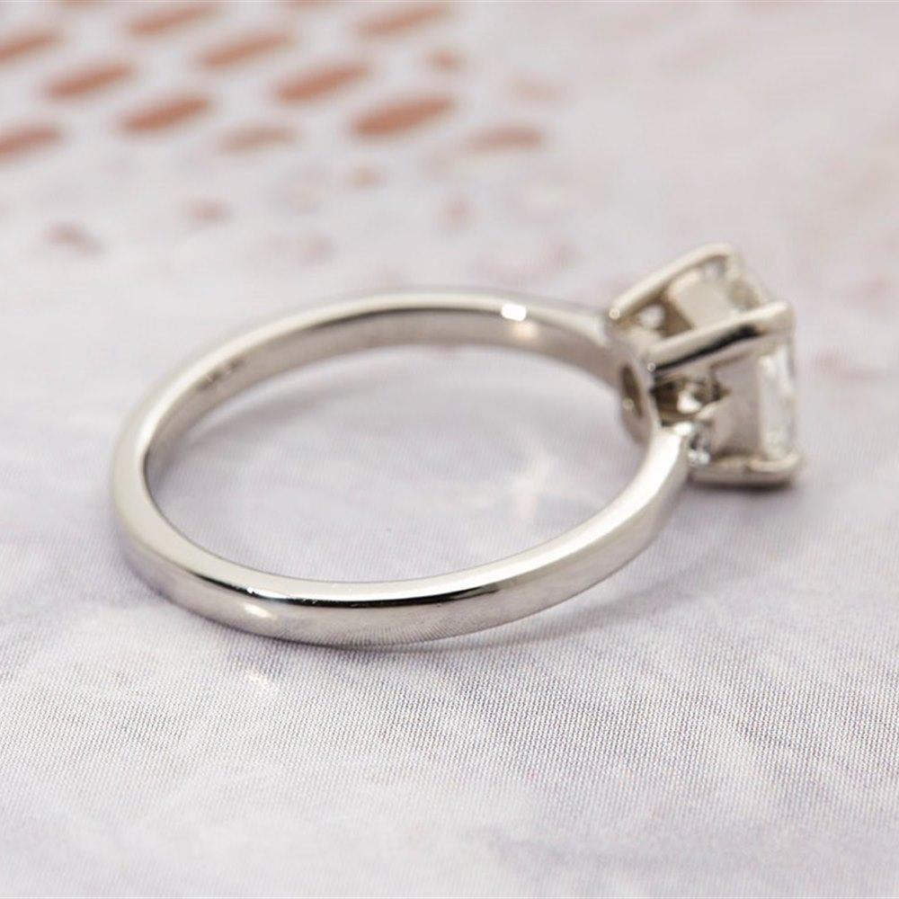 Platinum Cushion Cut 1.30ct Diamond Ring