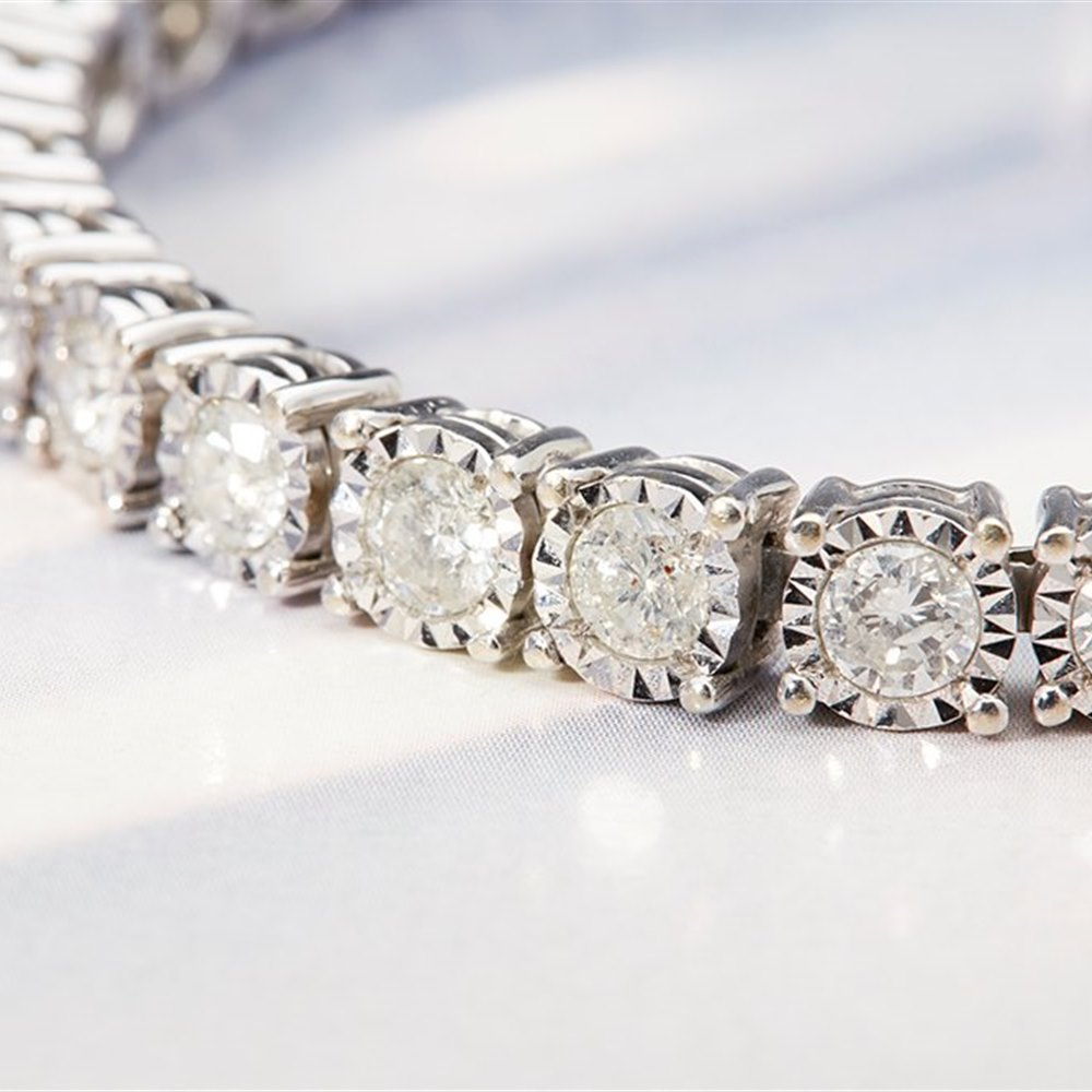 18k White Gold 7.50ct Diamond Tennis Bracelet