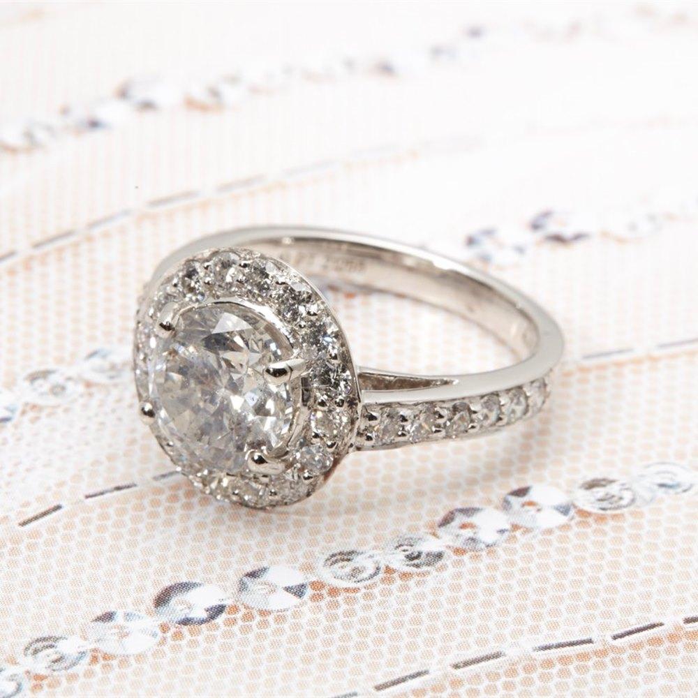 Platinum 2.46ct Round Brilliant Cut Diamond Ring