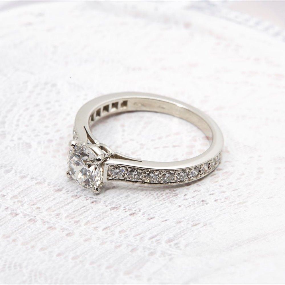 Cartier Platinum 1 50cts Round Brilliant Diamond Solitaire Engagement Ring CO