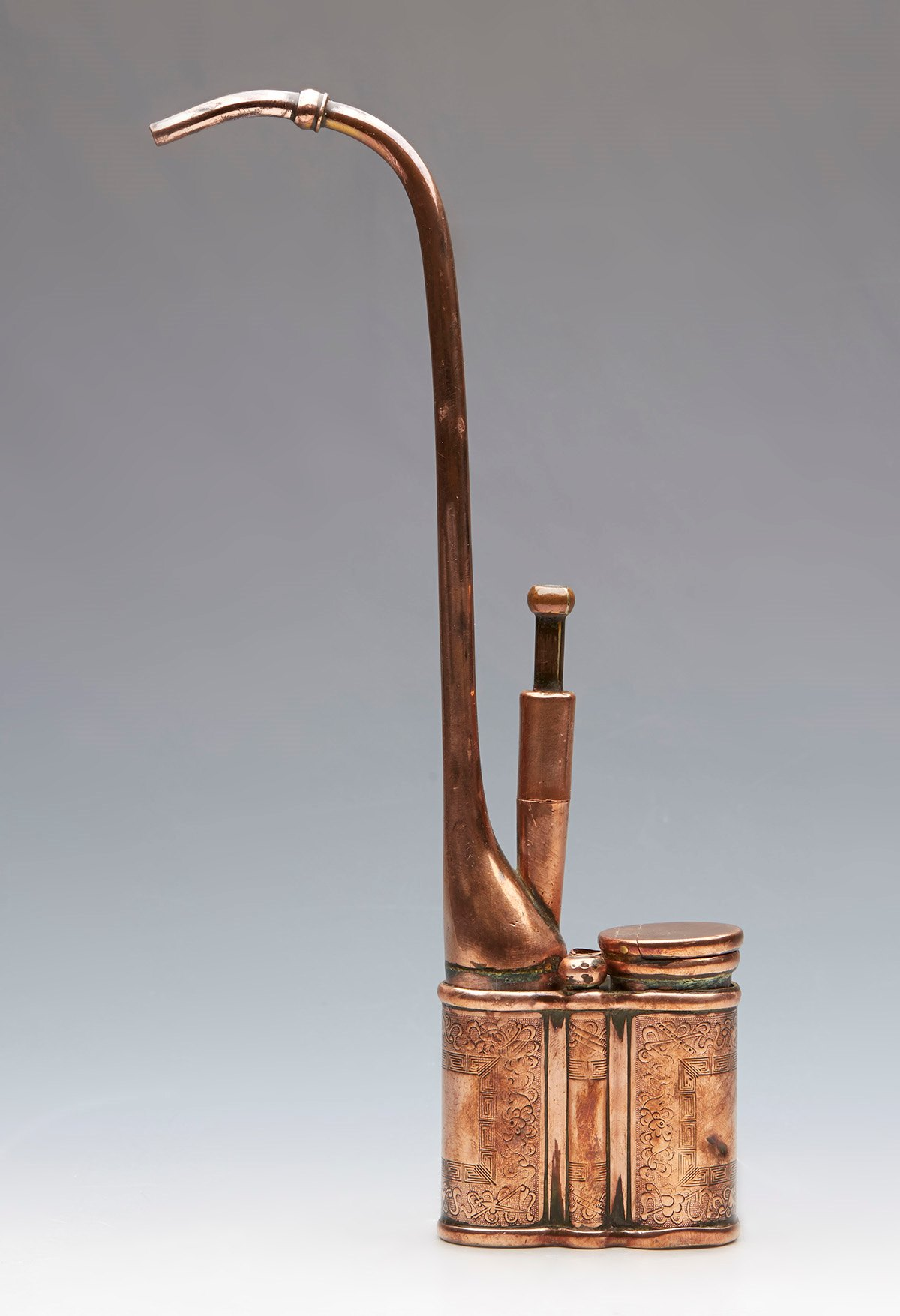 Antique chinese qing copper water pipe signed 19th c ebay for Copper pipe for water