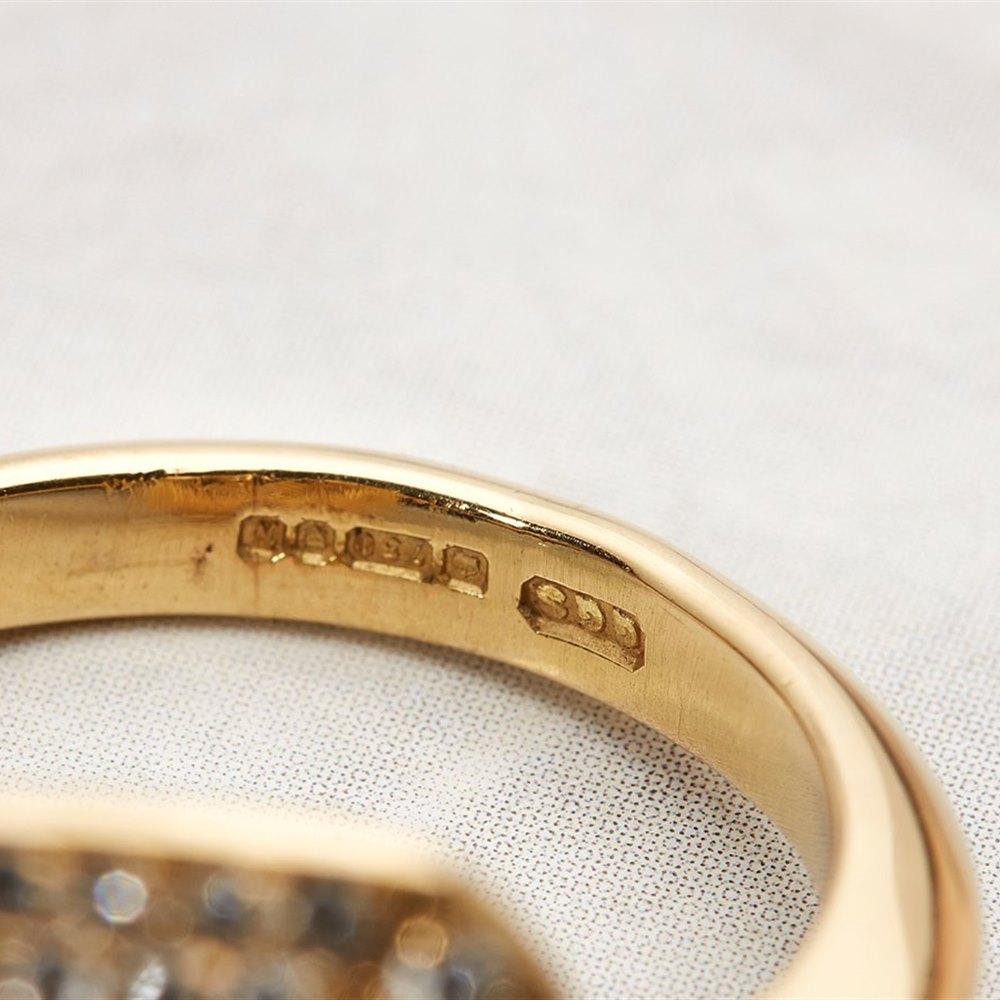 18k Yellow Gold 0.80ct Emerald & 0.80ct Diamond Ring