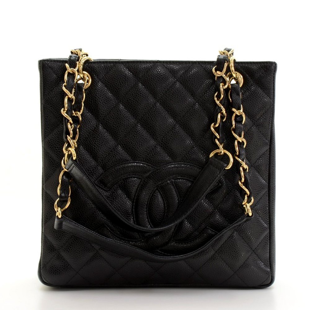 5f4955d1a8f3b7 ... Shopper Tote Bag GHW For Sale at 1stdibs. Black Caviar Chanel Petite  Shopping Tote PST Shoulder Bag | Lollipuff Chanel Petite Shopping Tote 2004  HB083 ...