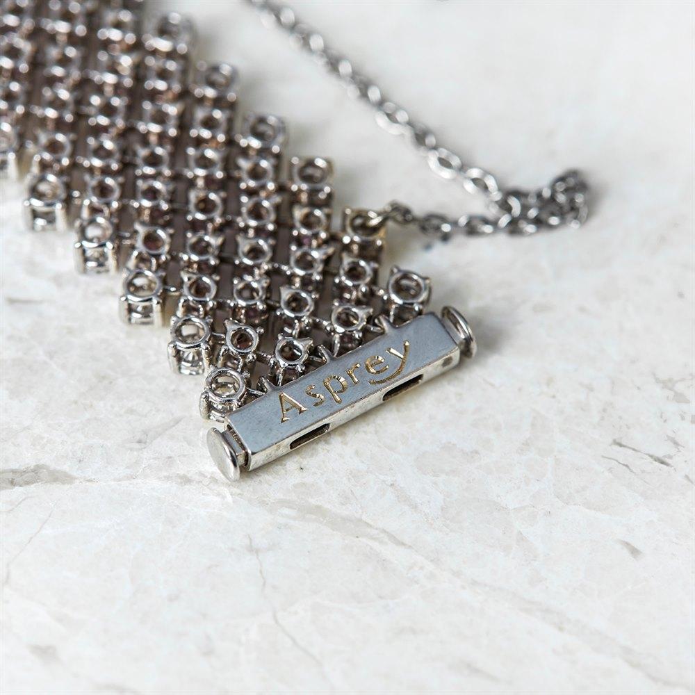 Asprey 18k White Gold 7.00ct Pink Sapphire & 3.15ct Diamond Bracelet