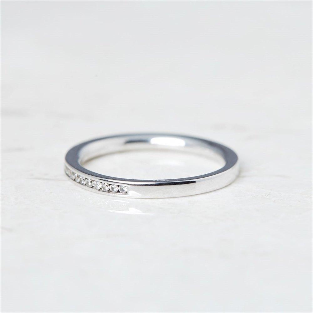 18k White Gold 0.25ct Diamond Half Eternity Ring