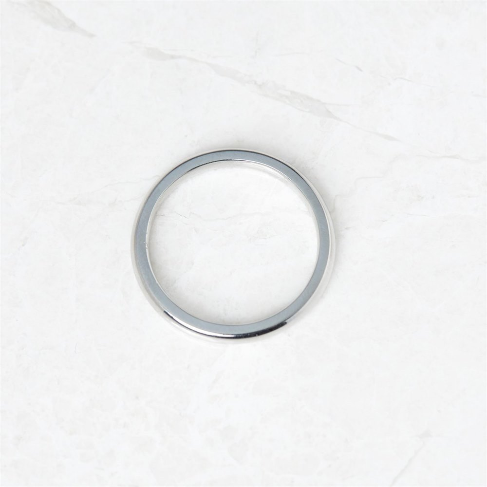 18k White Gold 2.5mm Wedding Band