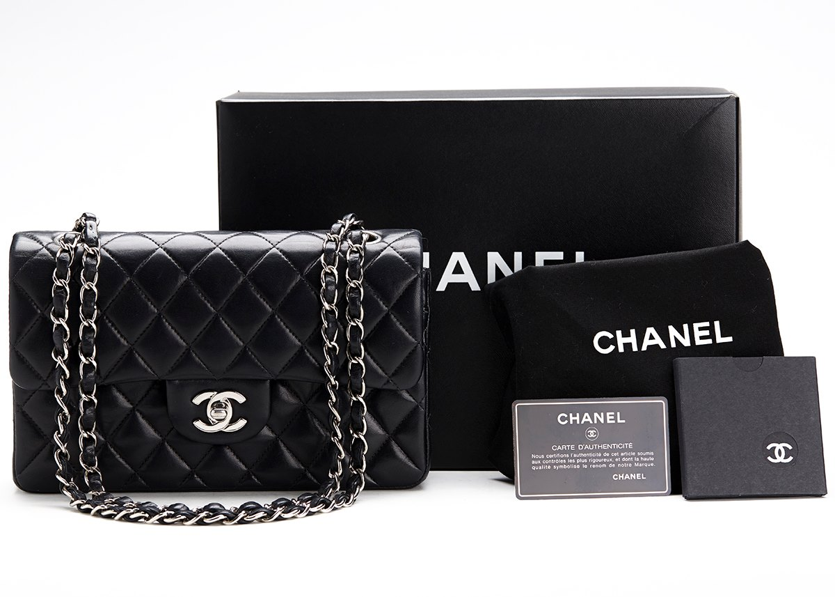 chanel classic double flap bag 2001 hb107 second hand handbags. Black Bedroom Furniture Sets. Home Design Ideas