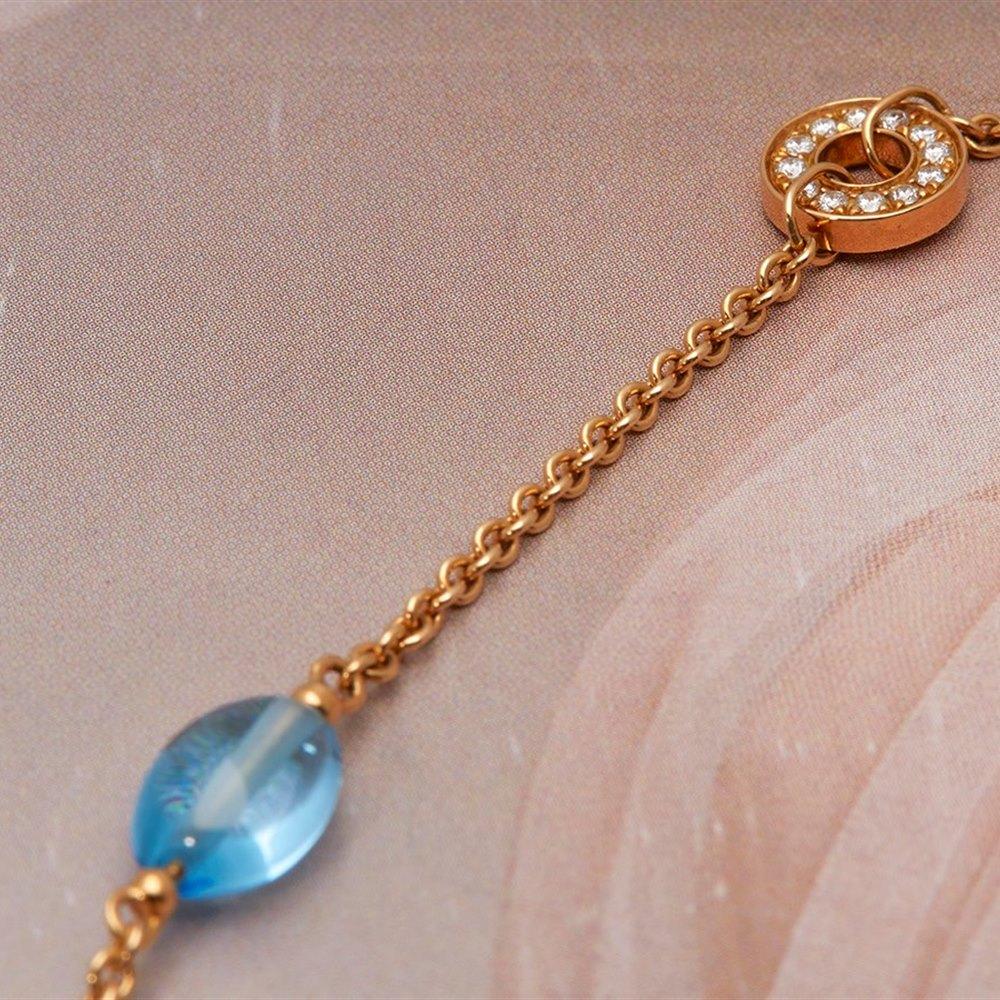 Bvlgari B Zero 1 18k Yellow Gold Multi-Gemstone & Diamond Necklace