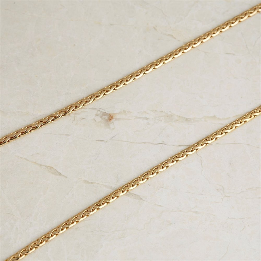 18k Yellow Gold Pear Shaped 3.03ct Diamond Necklace
