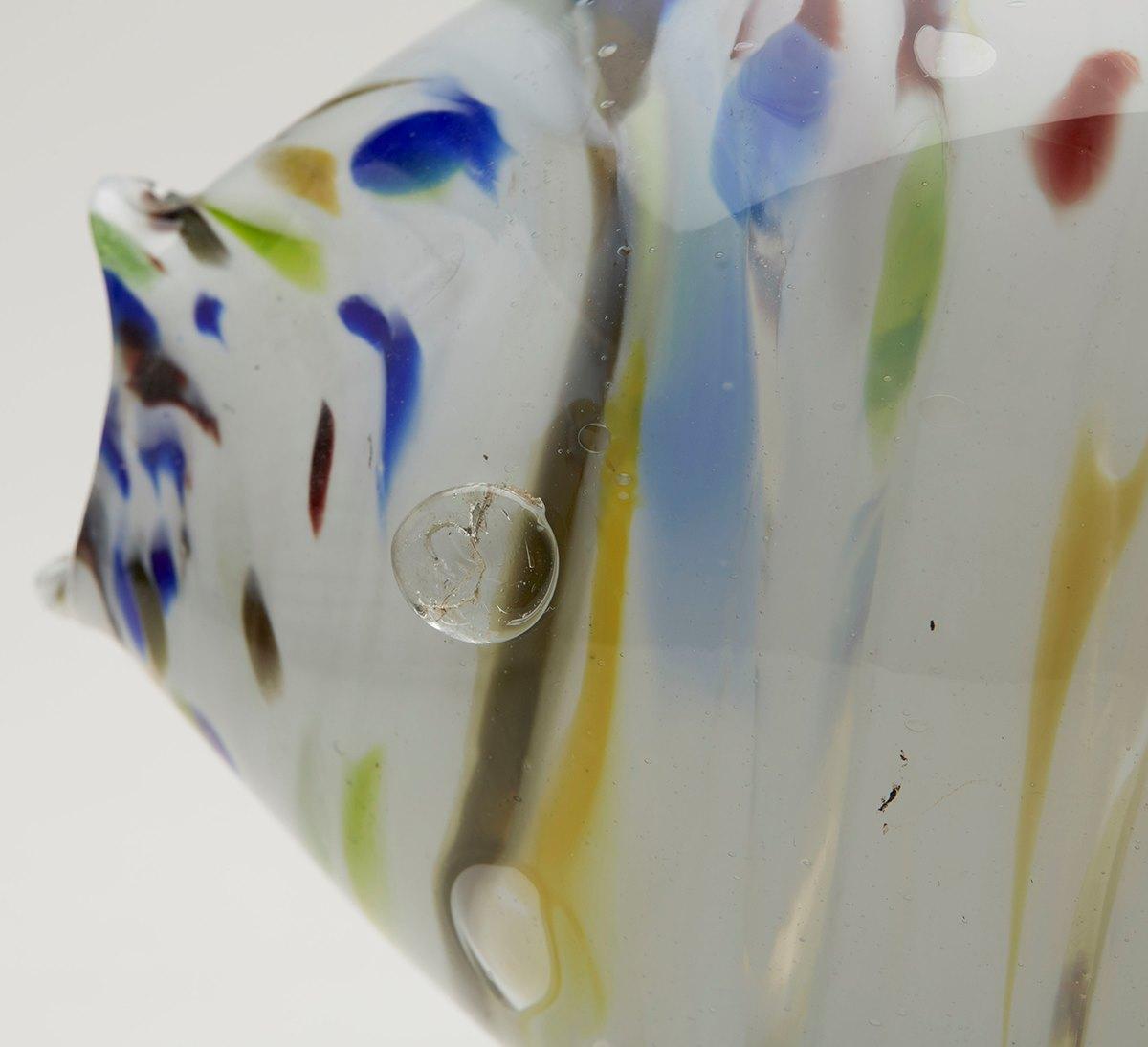 Vintage italian hand blown art glass fish ebay for Blown glass fish