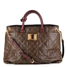Louis Vuitton Coated Canvas, Ostrich Leather & Python Leather Tote Monogram Etoile