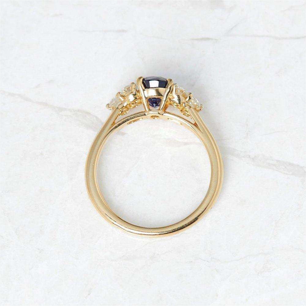 Cartier 18k Yellow Gold 1.37ct Sapphire & 0.50ct Diamond Ring