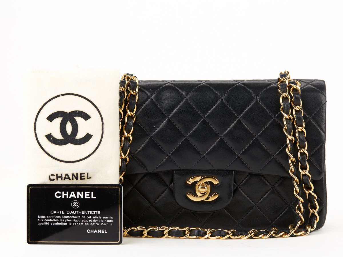 chanel small classic double flap bag 1993 hb199 second hand handbags. Black Bedroom Furniture Sets. Home Design Ideas