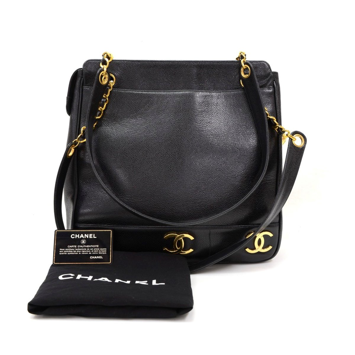 chanel timeless shoulder bag 1991 hb239 second hand handbags. Black Bedroom Furniture Sets. Home Design Ideas