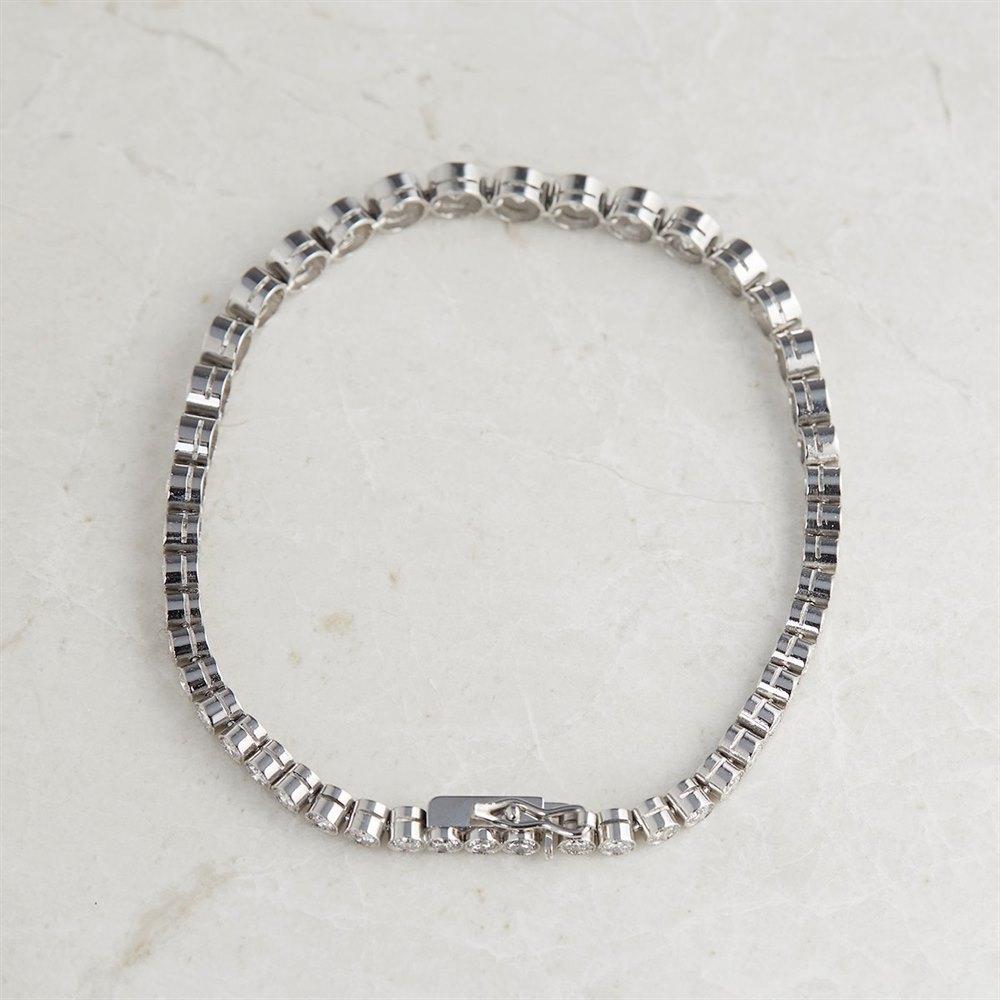 Platinum 6.43ct Graduated Diamond Tennis Bracelet