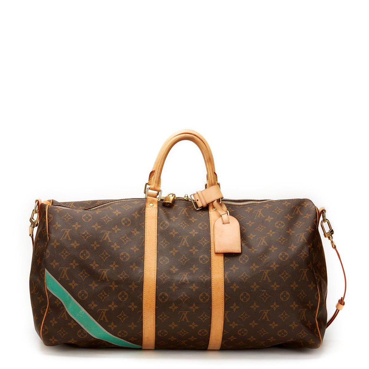 louis vuitton keepall bandouliere 55 2010 cb066 second hand handbags. Black Bedroom Furniture Sets. Home Design Ideas