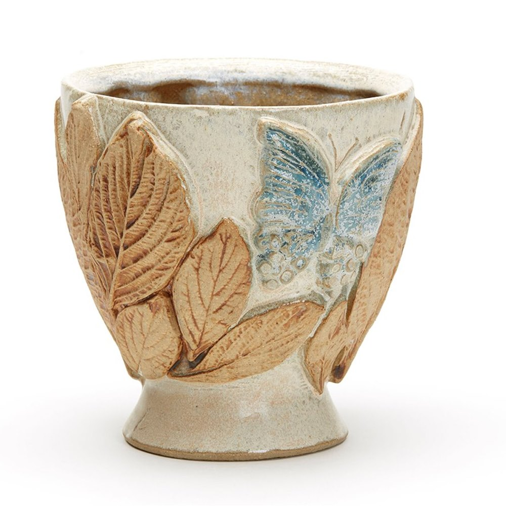 Bernard rooke moulded butterfly studio pottery vase 20th c ebay bernard rooke moulded butterfly studio pottery vase 20th c reviewsmspy