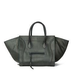 Céline Evergreen Python Leather Medium Phantom Luggage Tote