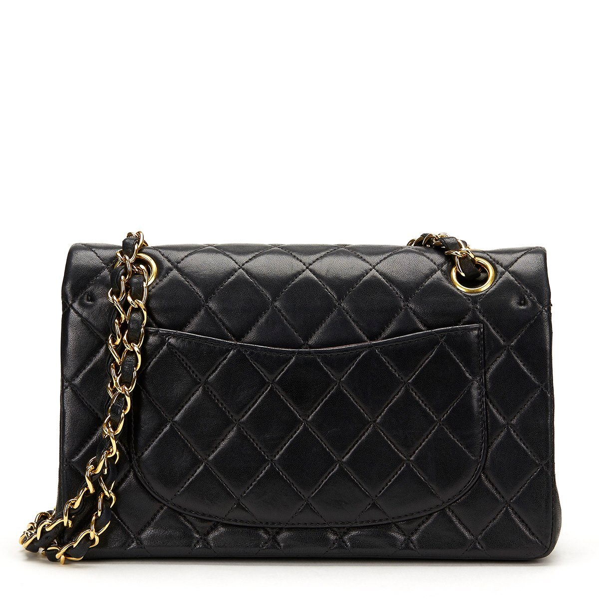 889f63907bb0 Chanel Black Quilted Lambskin Classic Small Double Flap Bag ...