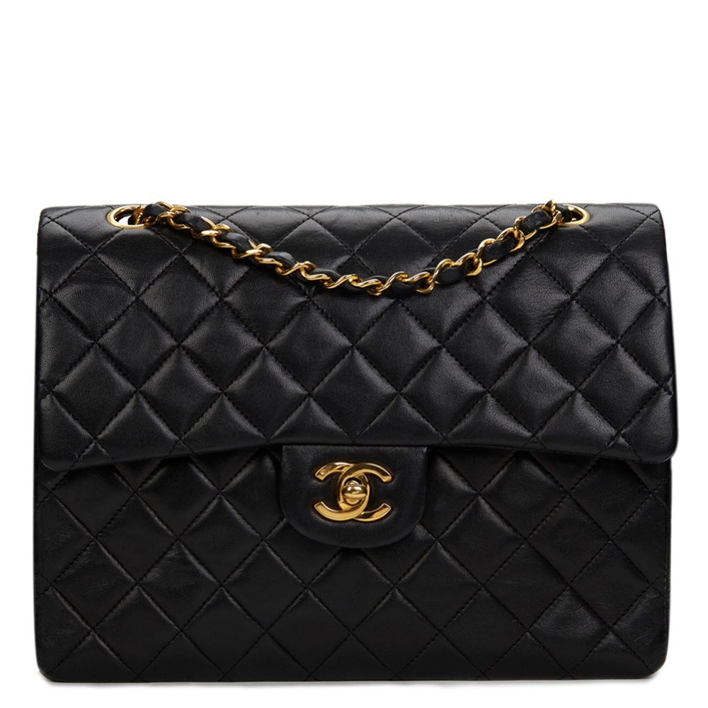 8f75713cdfd5 Chanel Vintage Classic Double Flap Bag Quilted Lambskin Medium ...