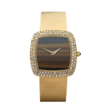 Delaneau Vintage Tiger-eye 31mm 18K Yellow Gold