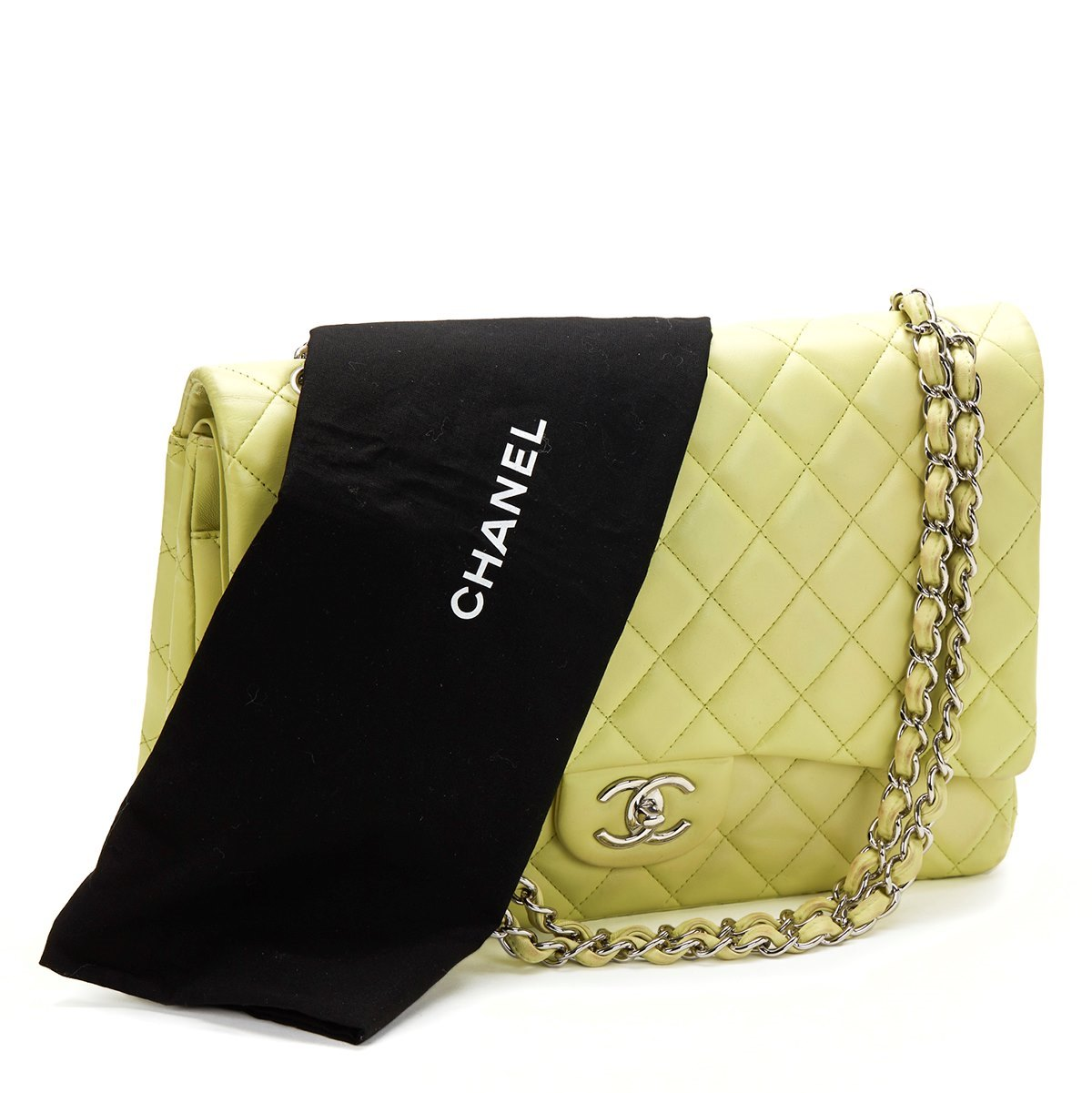 chanel maxi classic double flap bag 2011 hb375 second hand handbags. Black Bedroom Furniture Sets. Home Design Ideas