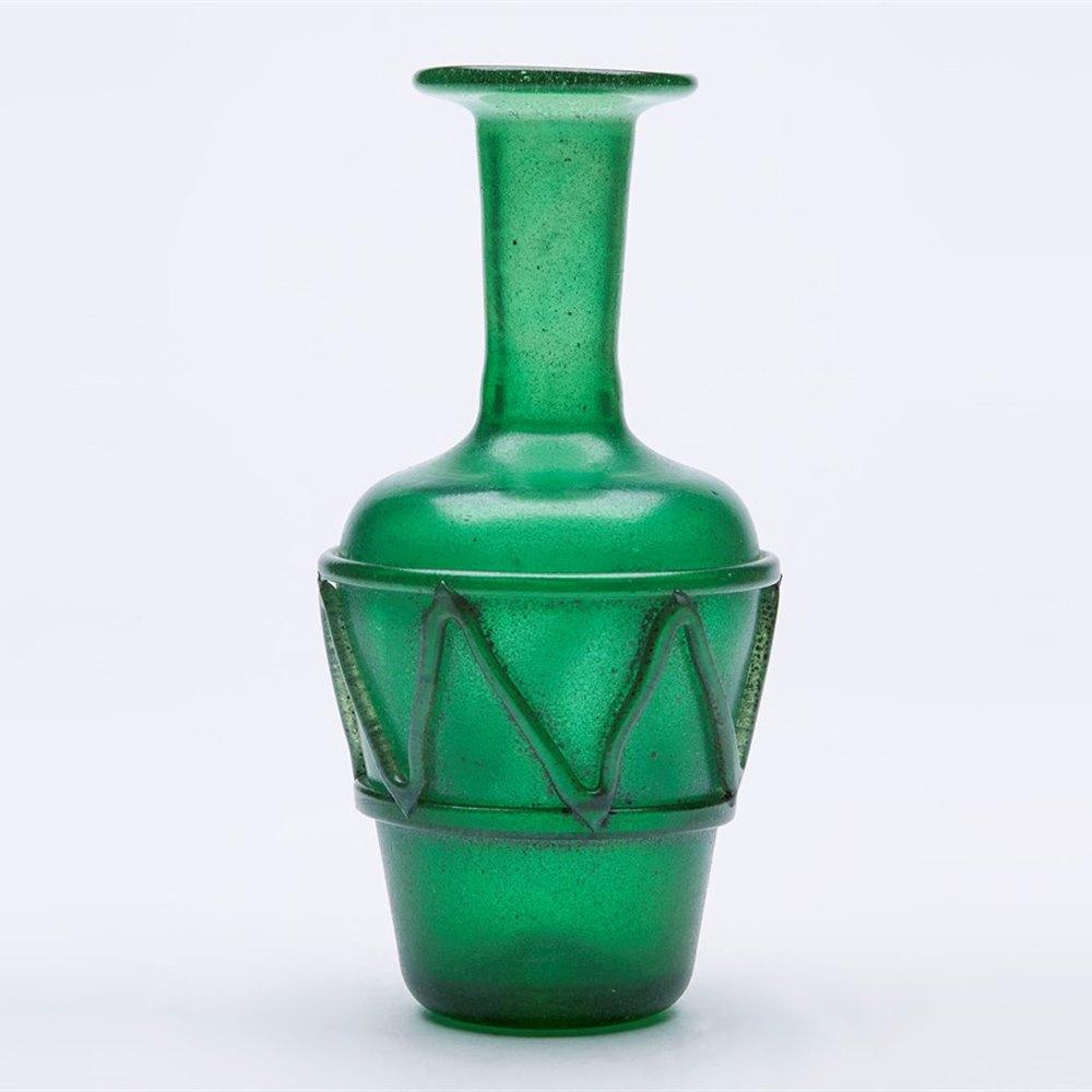S Seguso Scavo Green Glass Vase