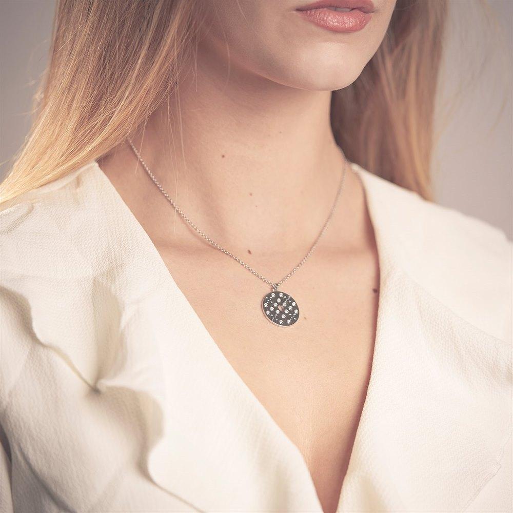 Gucci 18k White Gold 0.17ct Diamond Icon Amor Necklace
