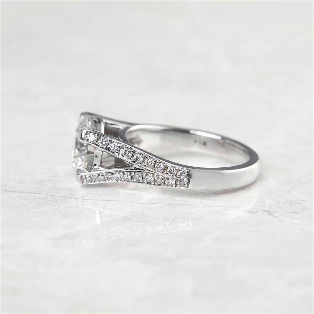 14k White Gold Round Brilliant Cut 2.18ct Diamond Ring