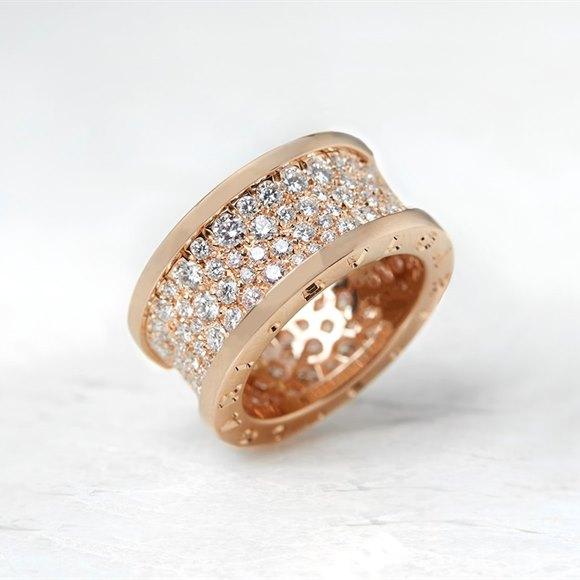 Bulgari 18k Rose Gold 2.30ct Diamond B.Zero1 Ring