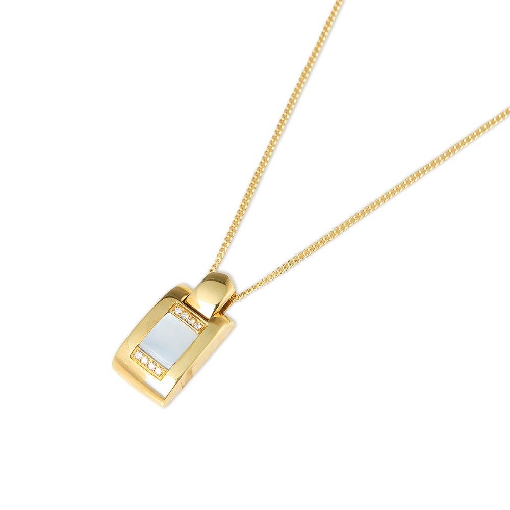 Audemars Piguet 18k Yellow Gold Mabe Pearl & Diamond Necklace