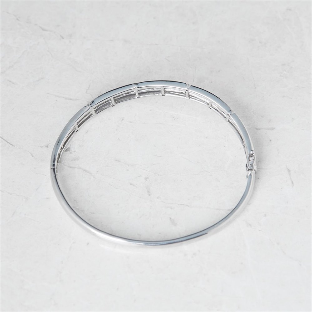 18k White Gold 0.16ct Round Brilliant Cut Diamond Bracelet