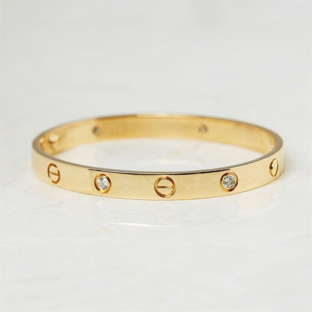 Cartier 18k Yellow Gold 6 Diamond Love Bracelet B6026417