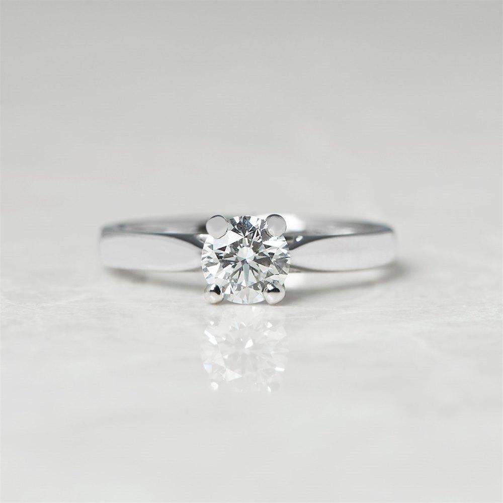 Platinum Round Brilliant Cut 0.50ct Diamond Engagement Ring