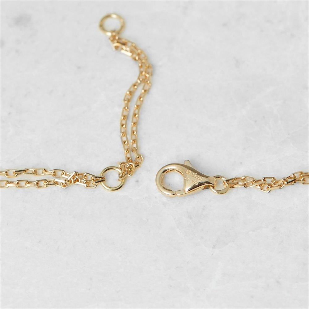 Cartier 18k Yellow Gold Tsavorite Garnet Panthère Necklace