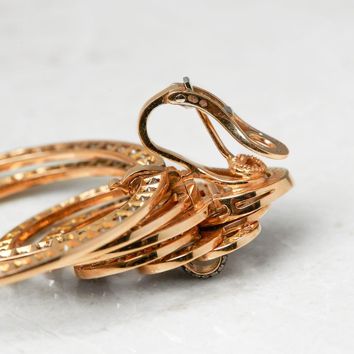 De Grisogono 18k Rose Gold 22.00ct Diamond Gypsy Earrings ...