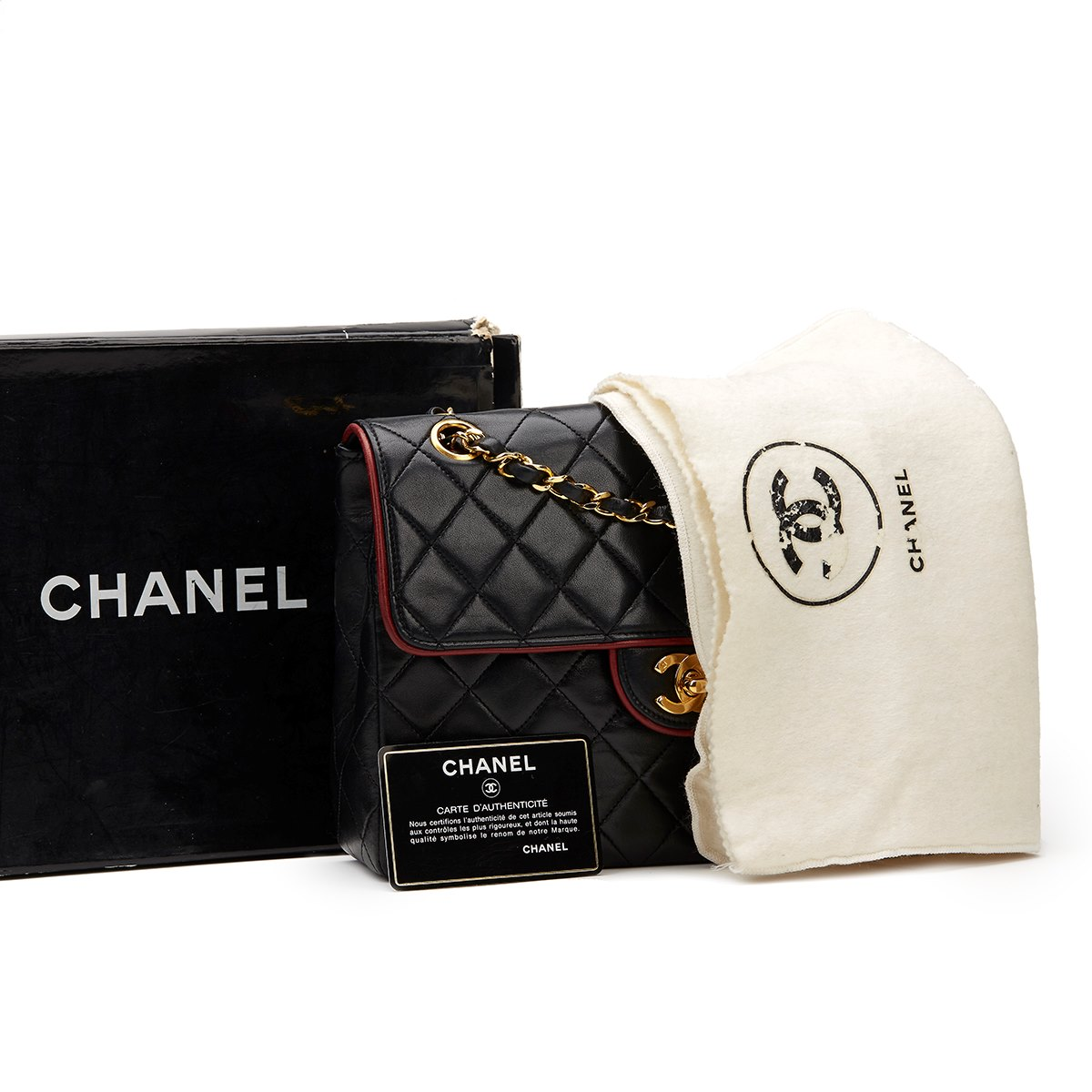 chanel classic single flap bag 1987 hb900 second hand handbags. Black Bedroom Furniture Sets. Home Design Ideas