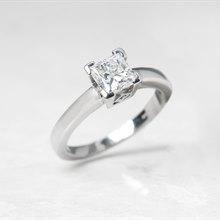 Platinum Princess Cut 1.03ct Diamond Engagement Ring