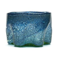 VINTAGE BLUE BUBBLE GLASS MONART? BOWL c.1930
