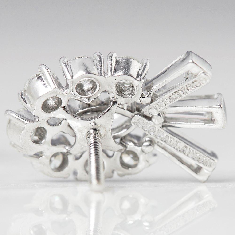 Tiffany & Co. Palladium 2.70ct Round, Marquise & Baguette Cut Diamond Stud Earrings