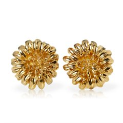 Tiffany & Co. 18k Yellow Gold Chrysanthemum Earrings