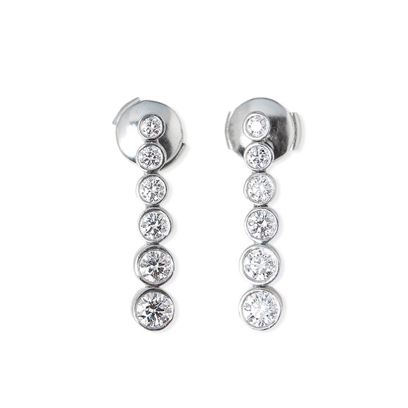 Tiffany & Co. Platinum 1.45ct Diamond Jazz Earrings