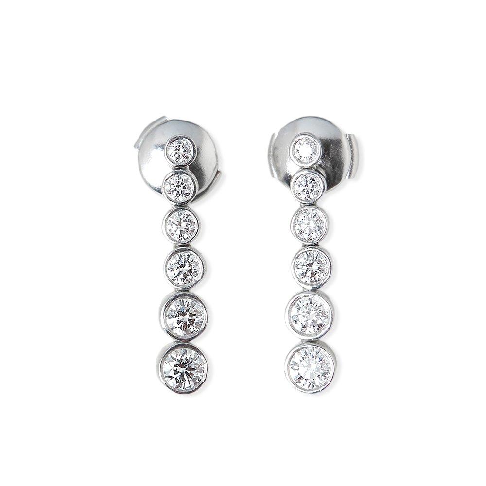 Tiffany & Co. Platinum 1.45ct Diamond Jazz Earrings