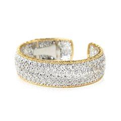 Buccellati 18k White & Yellow Gold 5.00ct Diamond Cuff Bracelet
